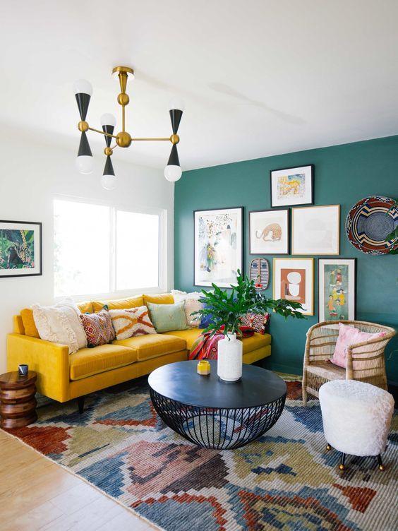 150 fotos de decoraci n de salas y gu a completa para - Decorar muebles con tela ...