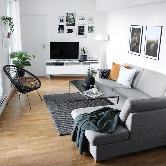 45 MEJORES fotos de decoración de salas pequeñas modernas [2019]